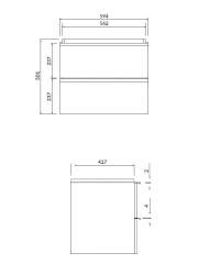 CERSANIT - Umyvadlová skříňka VIRGO 60 bílá s chromovými úchyty (S522-017), fotografie 2/5