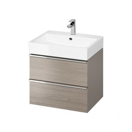 CERSANIT - Umyvadlová skříňka VIRGO 60 šedý dub s chromovými úchyty (S522-020)