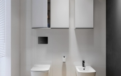 CERSANIT - Zrcadlová skříňka VIRGO 40 bílá s černými úchyty (S522-009), fotografie 8/6