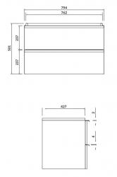 CERSANIT - Umyvadlová skříňka VIRGO 80 bílá s chromovými úchyty (S522-024), fotografie 2/5