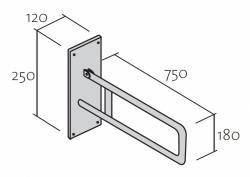 CERSANIT - Nástěnné madlo 75 pro WC, pohyblivé  (K97-035), fotografie 6/3