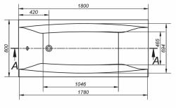 CERSANIT - VANA VIRGO 180X80 cm (S301-103), fotografie 14/9