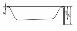 CERSANIT - VANA VIRGO 180X80 cm (S301-103), fotografie 16/9