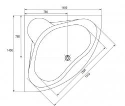 CERSANIT - VANA VENUS 140X140 cm (S301-038), fotografie 14/8